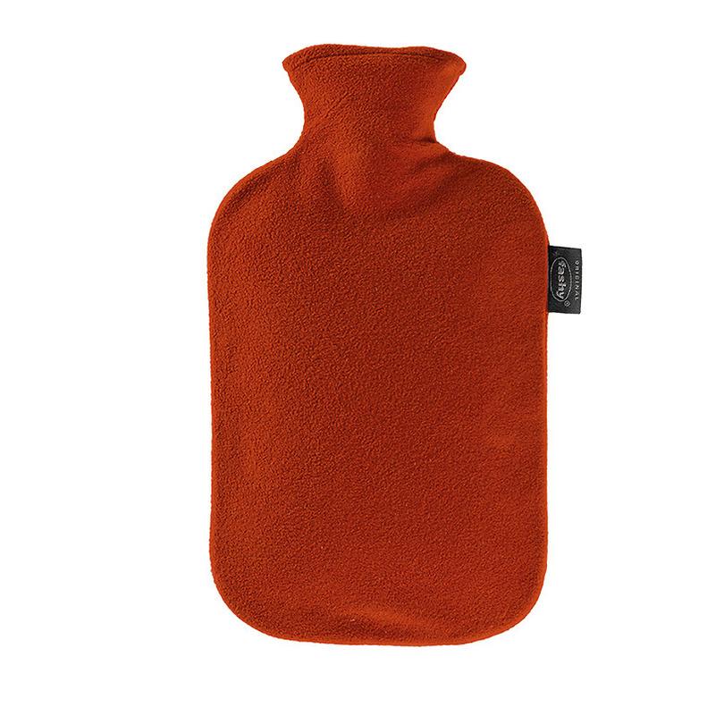 Kruik met fleece hoes rood 2 liter