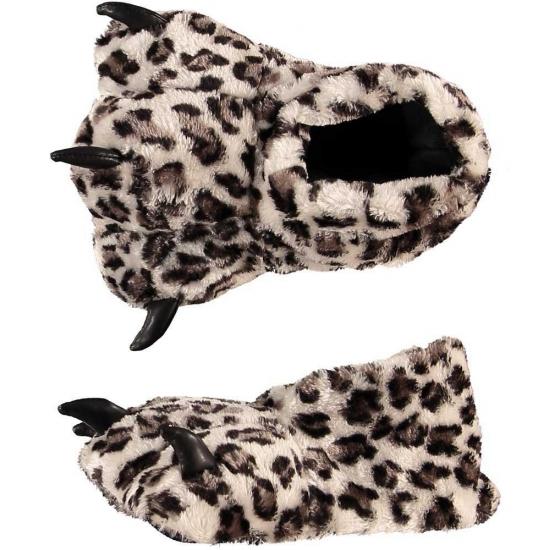 Luipaard poot sloffen voor dames
