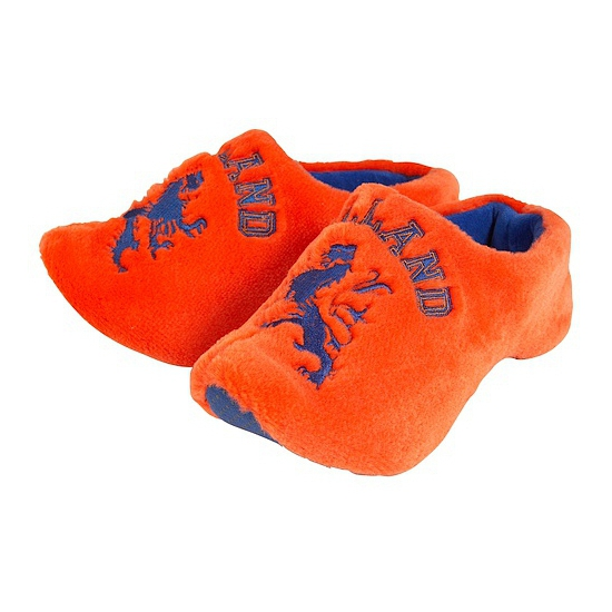 Oranje pluche sloffen