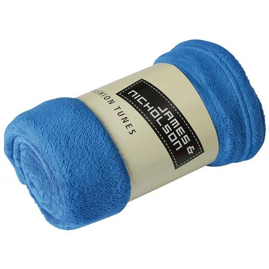 Picknick kleed van fleece kobalt blauw