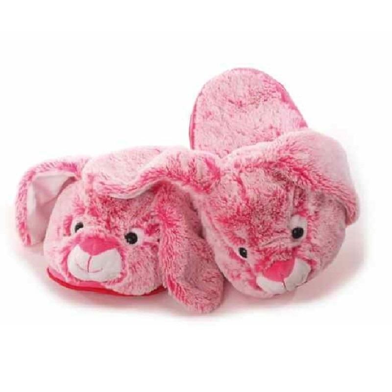 Roze konijnen/hazen sloffen/pantoffels voor dames maat 38-40