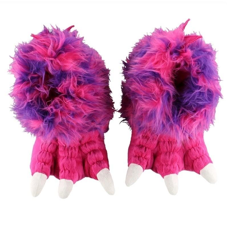 Roze poten pantoffels voor dames