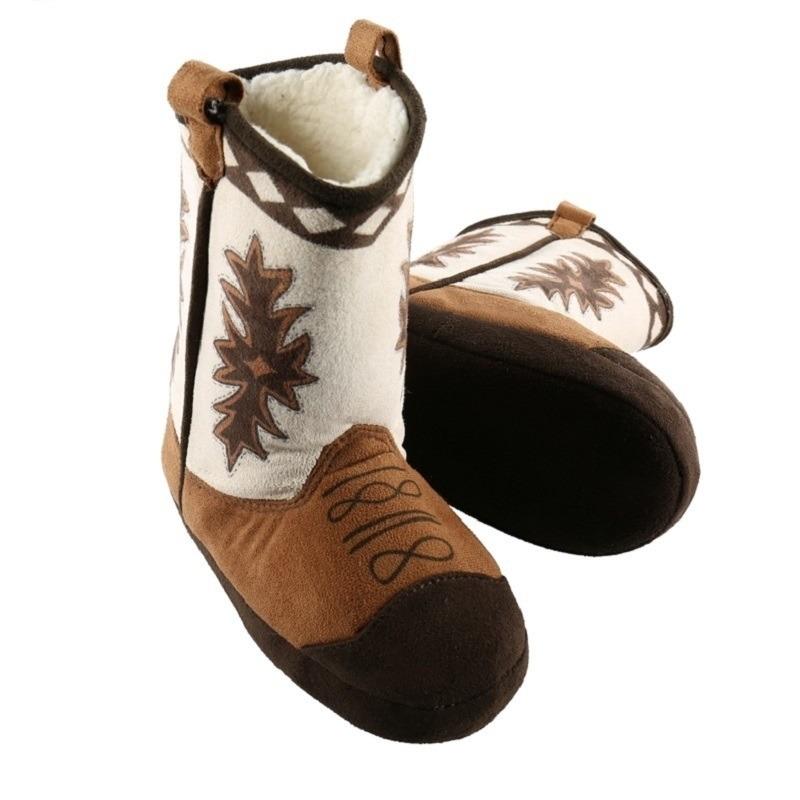 Stoere kinder cowboy slof laarzen bruin