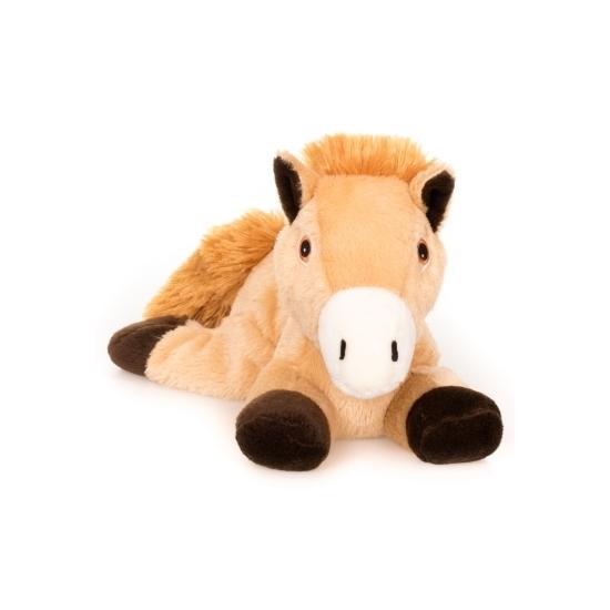 Warm knuffel bruin paard babyshower kado 18 cm