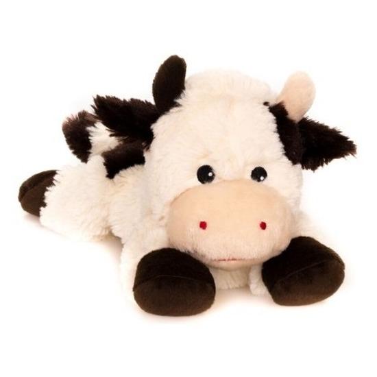 Warm knuffel koe babyshower kado 18 cm