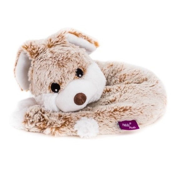 Warm knuffel konijn nekwarmer kado 78 cm