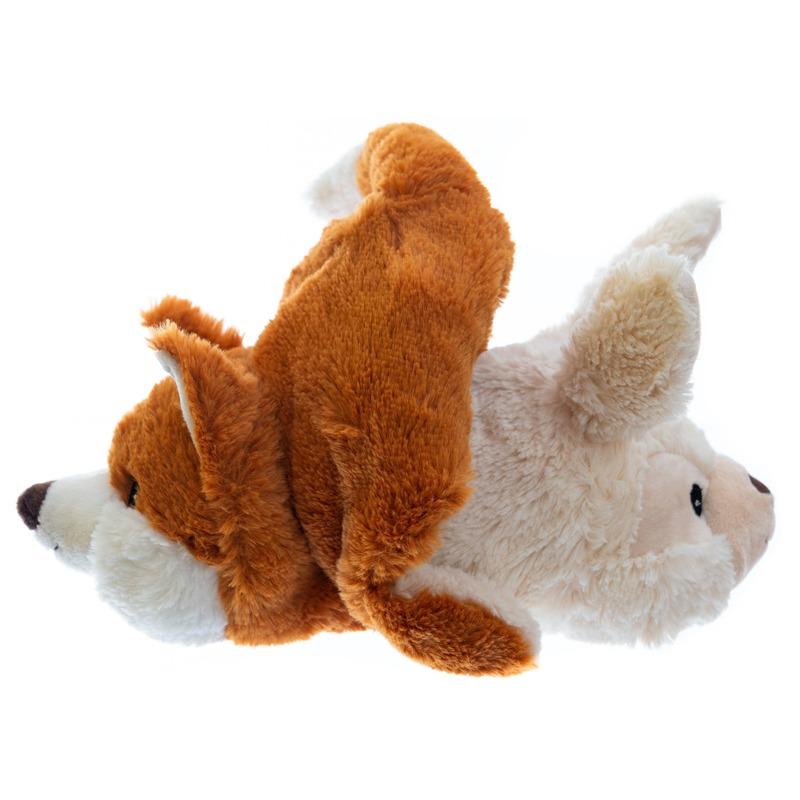 Warm knuffel konijn/vos babyshower kado 23 cm