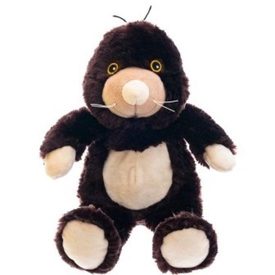 Warm knuffel mol babyshower kado 18 cm