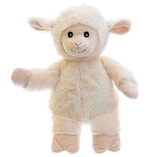 Warm knuffel schaap babyshower kado 18 cm