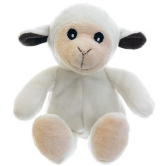 Warm knuffel schaap babyshower kado 23 cm