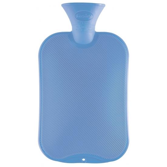 Warm water kruik lichtblauw 2 L