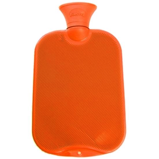 Warm water kruik oranje 2 L