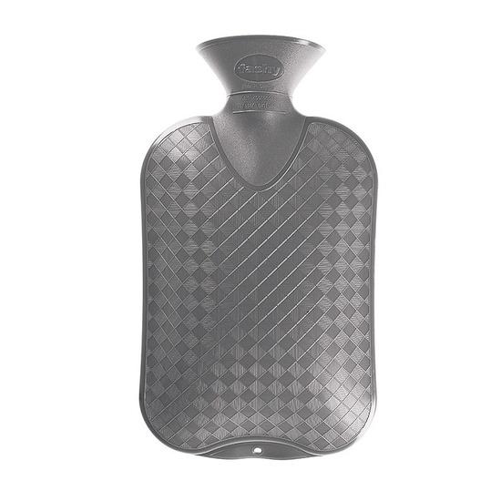 Warm water kruiken grijs 2 liter