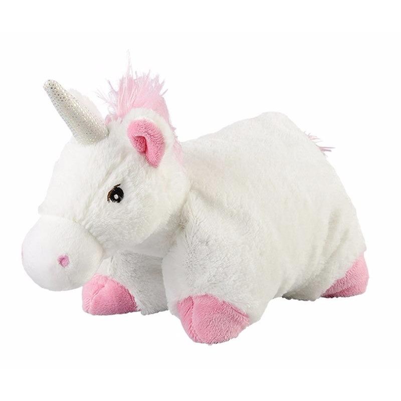 Warmteknuffel eenhoorn wit 25x25 cm knuffels kopen