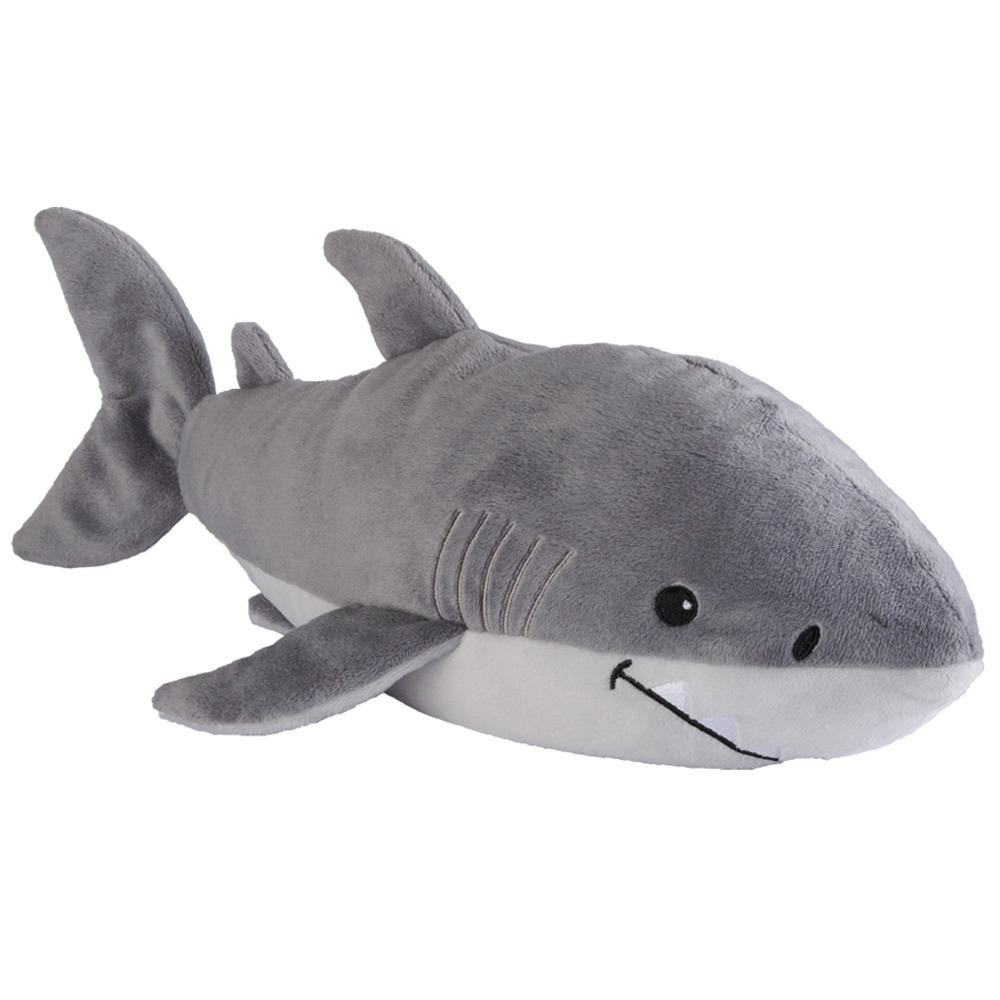 Warmteknuffel haai grijs 33 cm knuffels kopen
