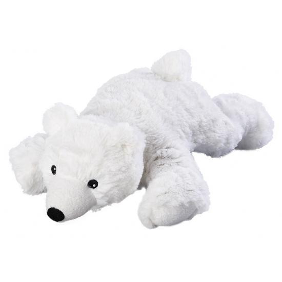 Warmteknuffel ijsbeer wit 30 cm knuffels kopen