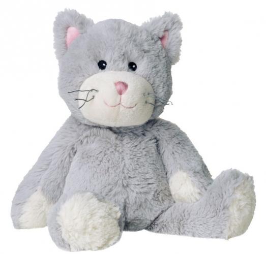 Warmteknuffel kat/poes grijs 35 cm knuffels kopen