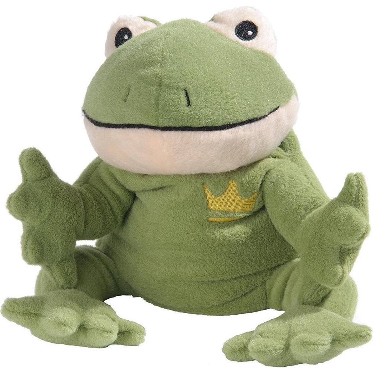Warmteknuffel kikker groen 35 cm knuffels kopen