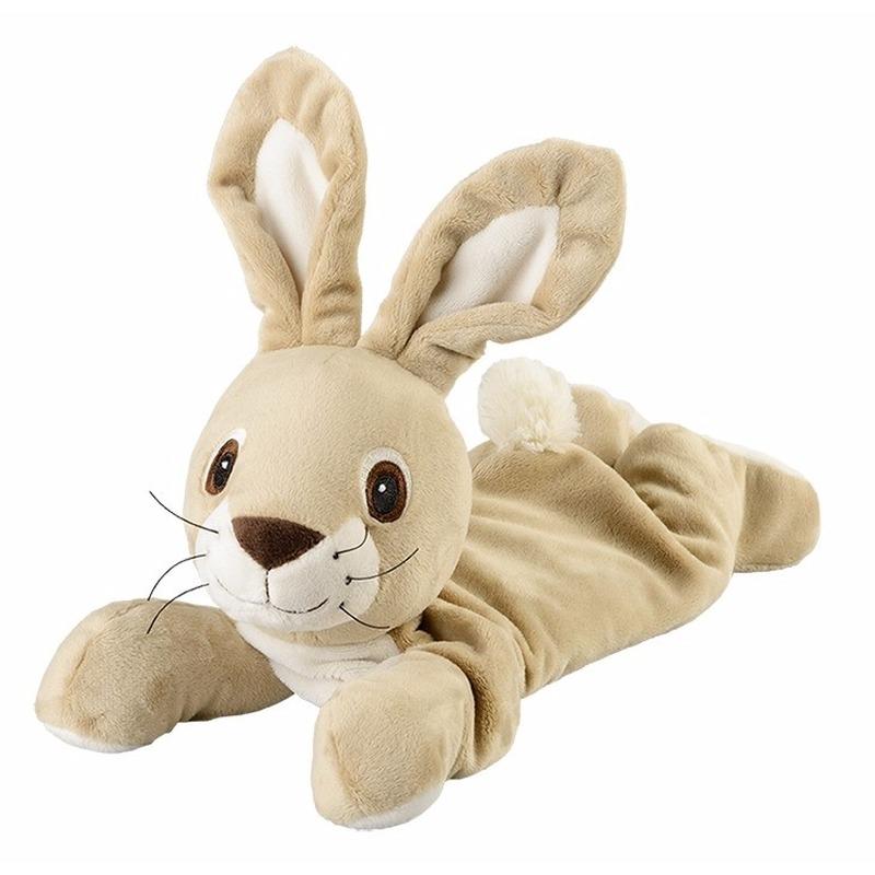 Warmteknuffel konijn/haas beige 35 cm knuffels kopen