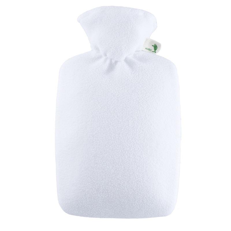 Witte fleece kruikhoes met kruik 1,8 liter