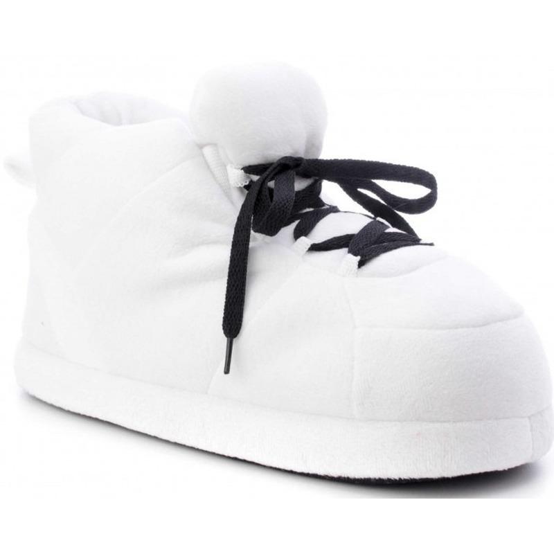 Witte sneaker model sloffen/pantoffels voor jongens/meisjes