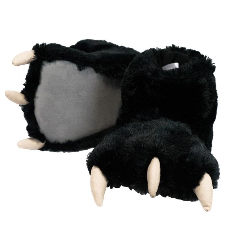 Zwarte beer poten pantoffels voor kinderen