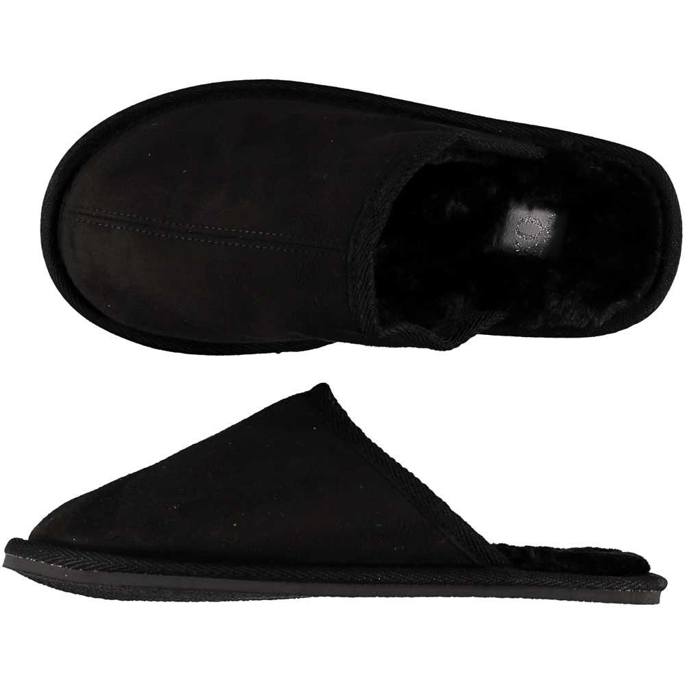 Zwarte instap pantoffels/sloffen voor dames